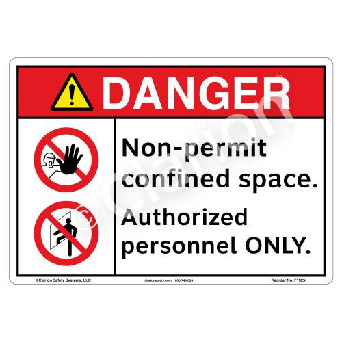 Danger/Non-Permit Sign (F1325-)