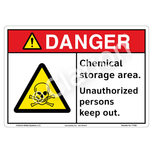 Danger/Chemical Storage Sign (F1330-)