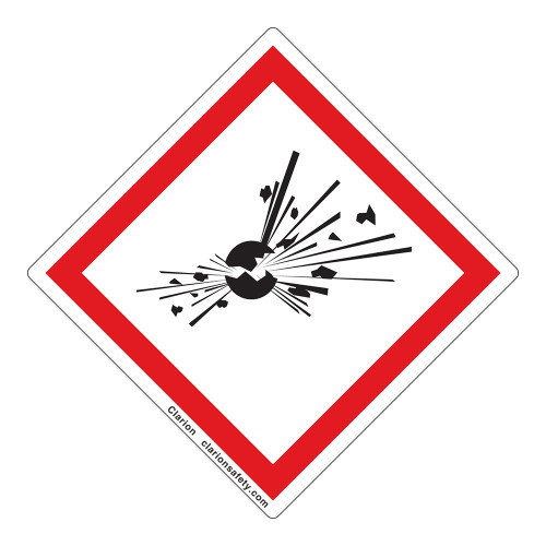 Exploding Bomb Label (GHS6242-)