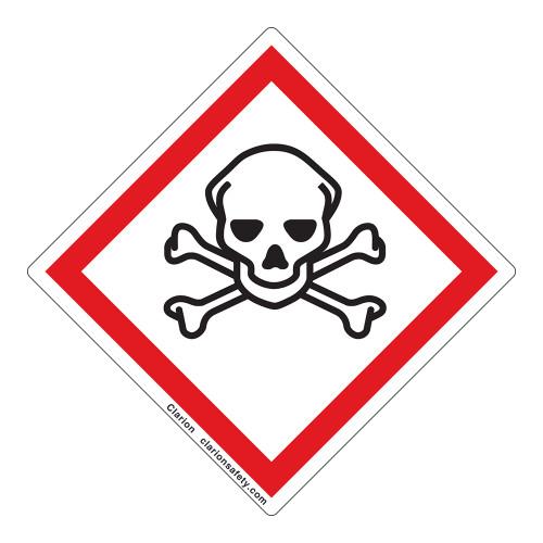 Skull and Crossbones Label (GHS6244-)