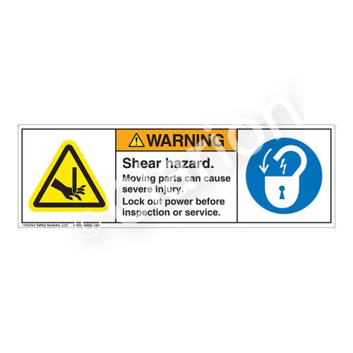 Warning/Shear Hazard Label (H1001/6011-7EWH)