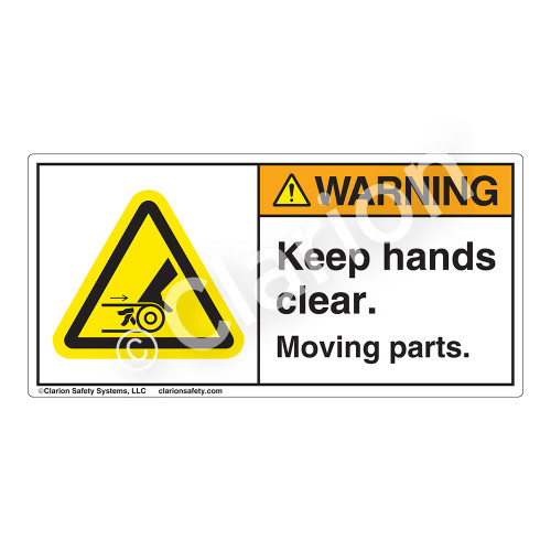 Warning/Keep Hands Clear Label (H1010-PRWH)