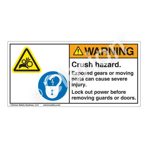 Warning/Crush Hazard Label (H1014/6011-3JWH)
