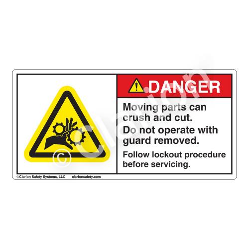 Danger/Moving Parts Label (H1014-02DH)