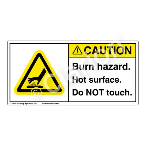 Caution/Burn Hazard Label (H1024-01CH)