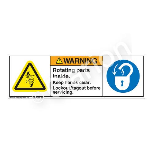 Warning/Rotating Parts Label (H1028/6011-4GWH)