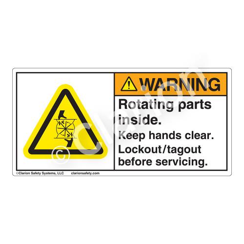 Warning/Rotating Parts Label (H1028-4GWH)