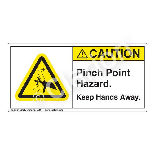 Caution/Pinch Point Hazard Label (H1098-608CH)