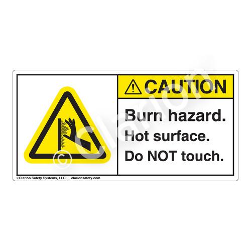 Caution/Burn Hazard Label (H1100-01CH)