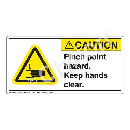Caution/Pinch Point Hazard Label (H1105-G3CH)