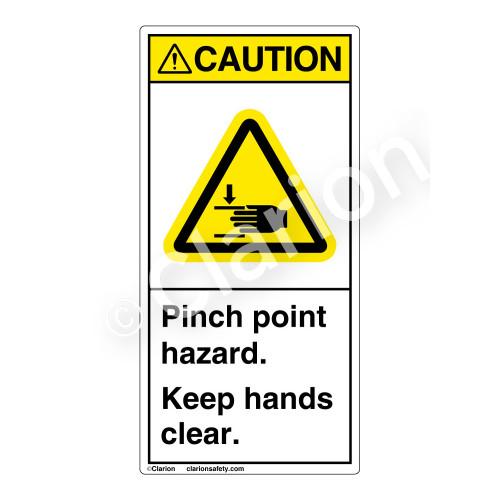 Caution/Pinch Point Hazard Label (H1105-G3CV)