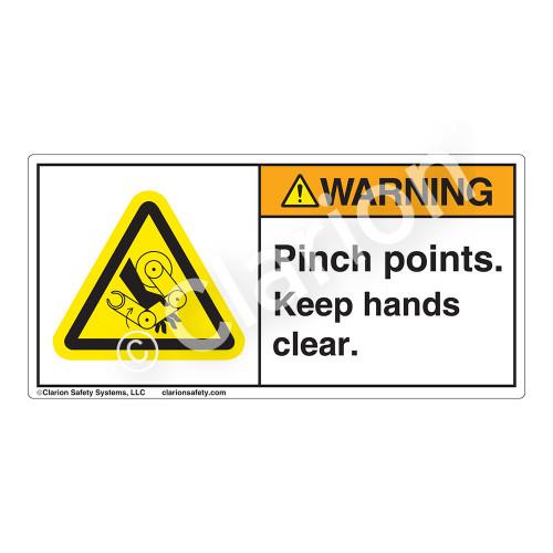 Warning/Pinch Points Label (H1117-EPWH)