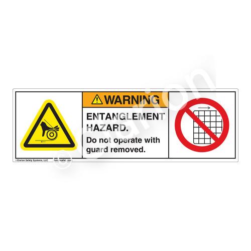 Warning/Entanglement Hazard Label (H1157/6060-VNWH)