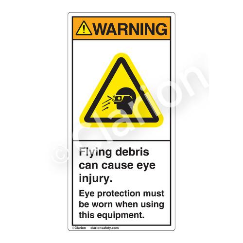 Warning/Flying Debris Label (H3021-531WV)