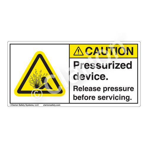 Caution/Pressurized Devices Label (H4005-B61CH)