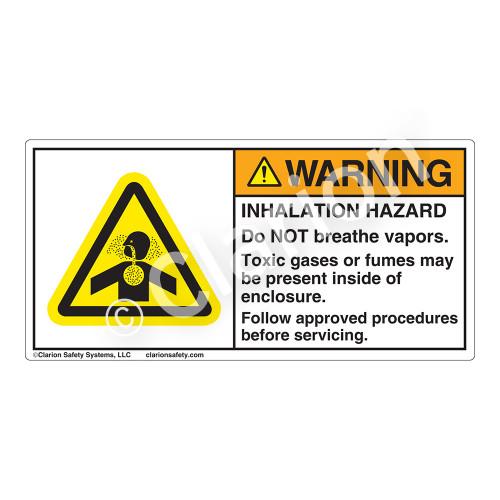 Warning/Inhalation Hazard Label (H4006-D54WH)