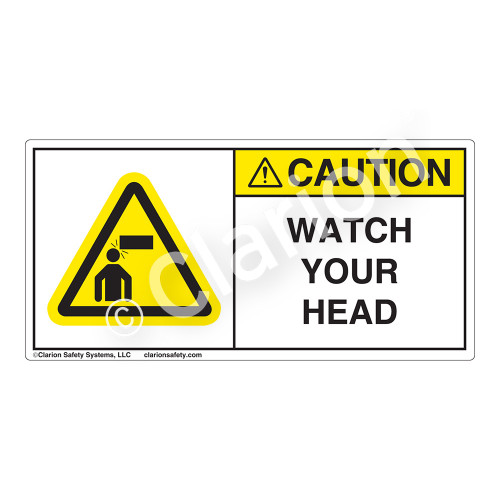 Caution/Watch Your Head Label (H4008-H39CH)