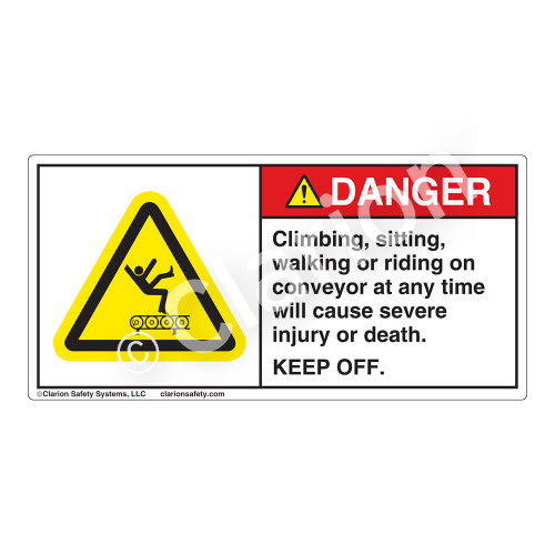 Danger/Climbing Sitting Label (H5016-V9DH)