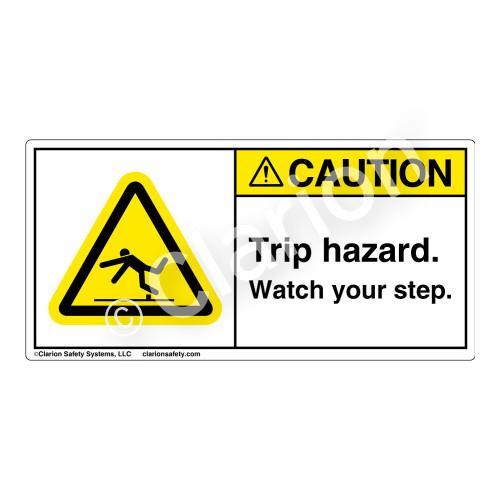 Caution/Trip Hazard Label (H5019-88CH)