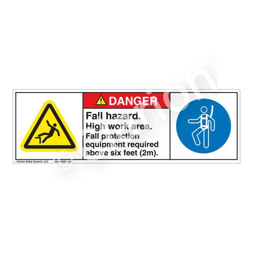 Danger/Fall Hazard Label (H5079/6144-179DH)