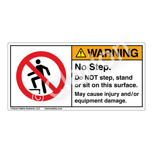 Warning/No Step Label (H5080-DY5WH)