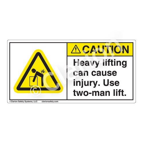 Caution/Heavy Lifting Can Label (H5101-AY3CH)