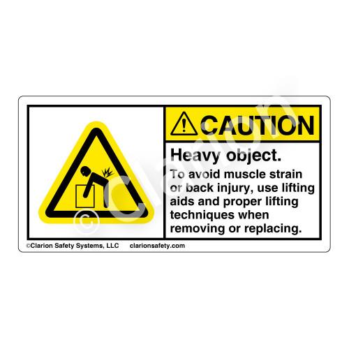 Caution/Heavy Object Label (H5101-BKCH)