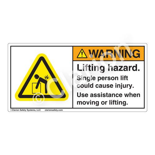 Warning/Lifting Hazard Label (H5101-H0WH)