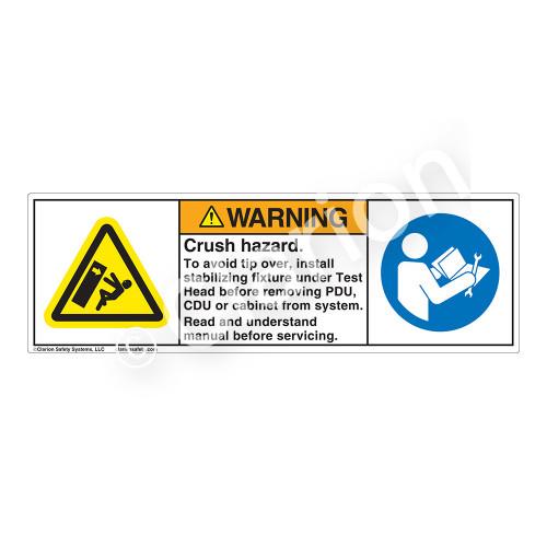 Warning/Crush Hazard Label (H5130/6127-G79WH)