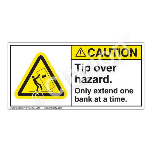 Caution/Tip Over Hazard Label (H5135-5BCH)