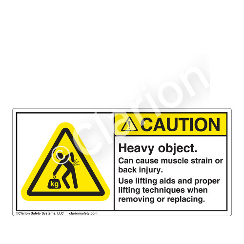 Caution/Heavy Object Label (H5158-437CH)