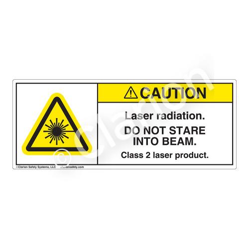 Caution/Laser Radiation Label (H6003-101CH)