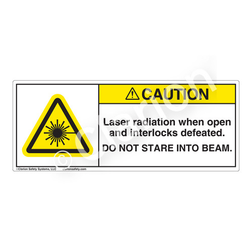 Caution/Laser Radiation Label (H6003-139CH)