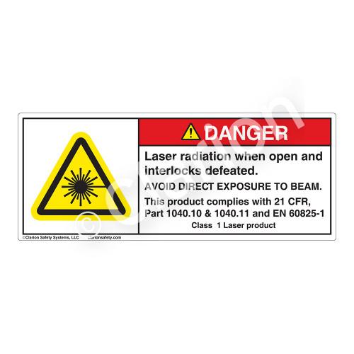 Danger/Laser Radiation Label (H6003-8VDH)