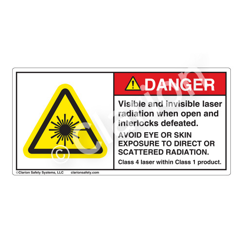 Danger/Visible And Invisible Laser Label (H6003-D89DH)