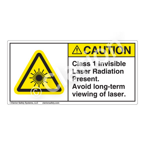 Caution/Class I Invisible Laser Label (H6003-FDCH)