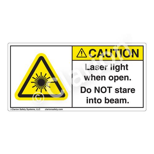 Caution/Laser Light Label (H6003-KXCH)