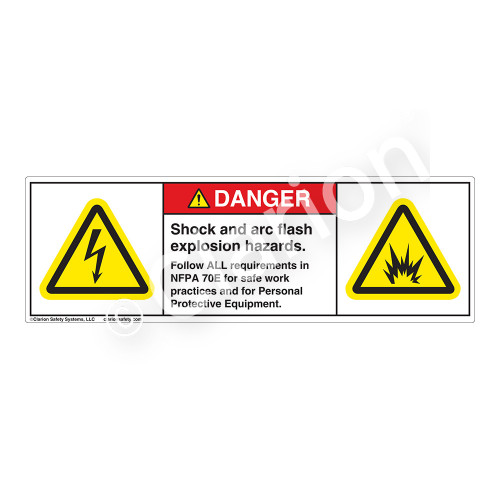Danger/Shock And Arc Flash Label (H6010/6006-263DH)