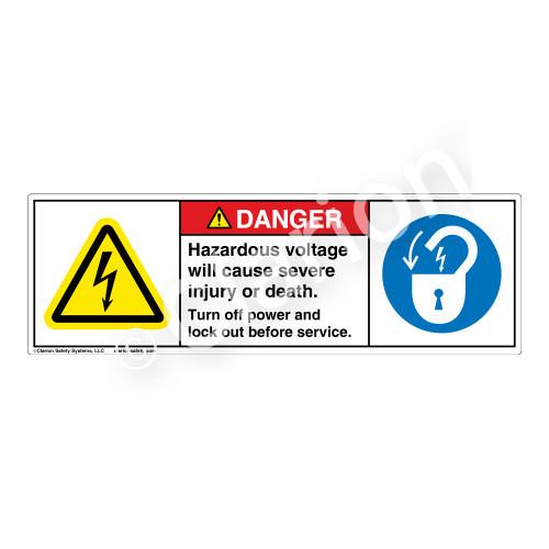 Danger/Hazardous Voltage Label (H6010/6011-4LDH)