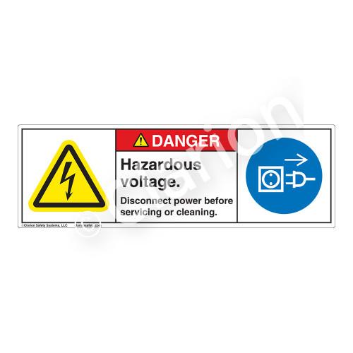Danger/Hazardous Voltage Label (H6010/6057-CJDH)