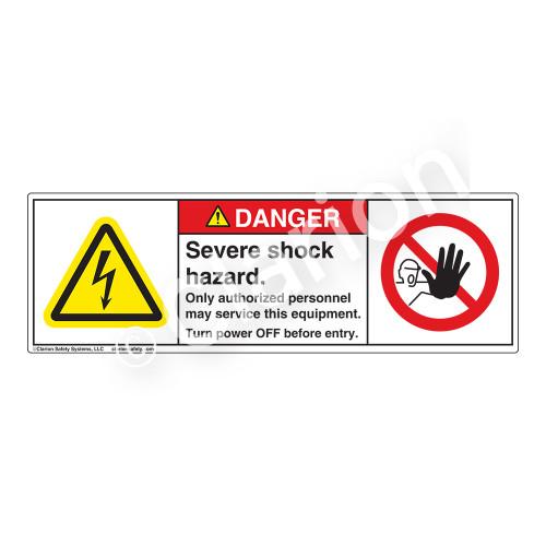 Danger/Severe Shock Label (H6010/6062-KEDH)