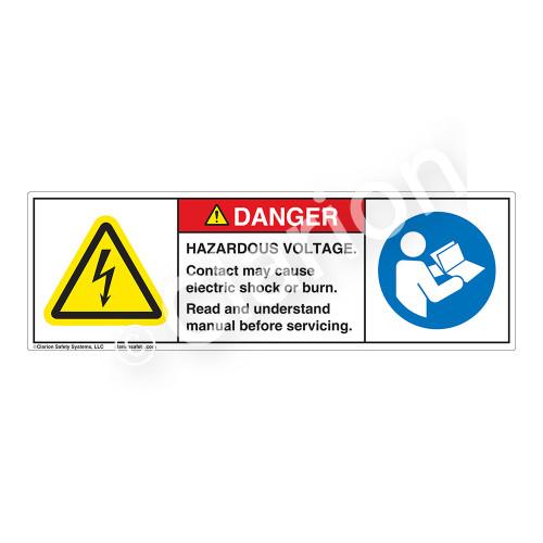 Danger/Hazardous Voltage Label (H6010/6126-PMDH)
