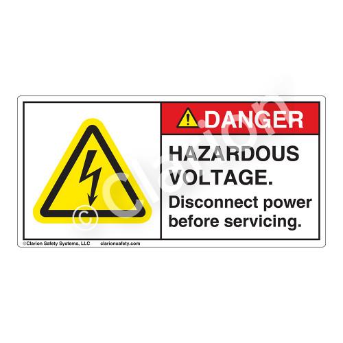 Danger/Hazardous Voltage Label (H6010-18DH)