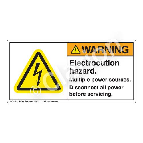 Warning/Electrocution Hazard Label (H6010-201WH)