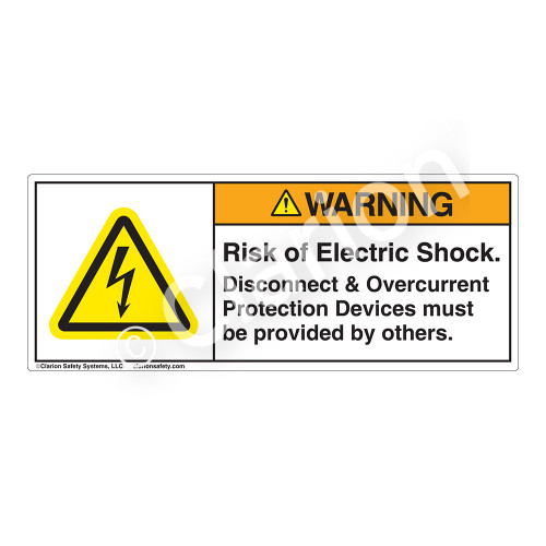 Warning/Risk of Electric Shock Label (H6010-221WH)