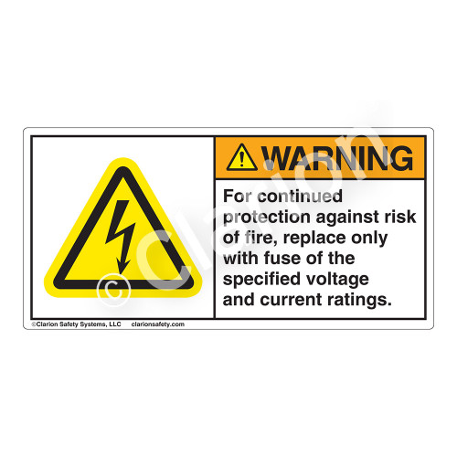 Warning/For Continued Protection Label (H6010-236WH)