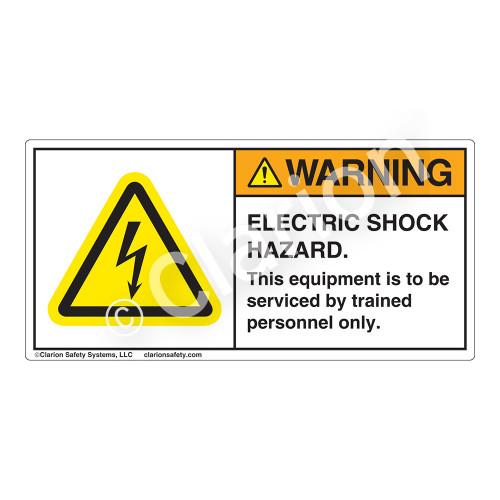 Warning/Electric Shock Hazard Label (H6010-320WH)