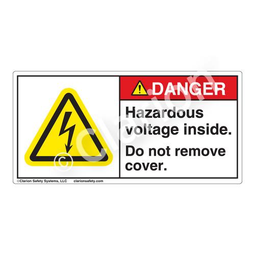 Danger/Hazardous Voltage Label (H6010-5EDH)
