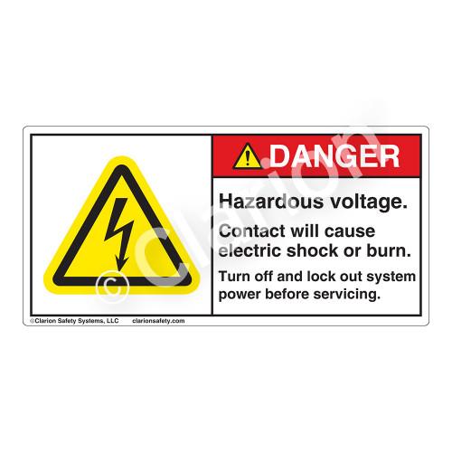 Danger/Hazardous Voltage Label (H6010-640DH)