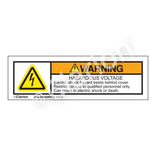 Warning/Hazardous Voltage Label (H6010-655WHP-)